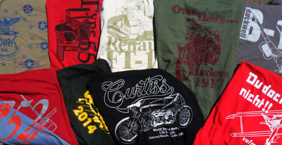 T-shirts, mostly commissioned by museum gift shops
